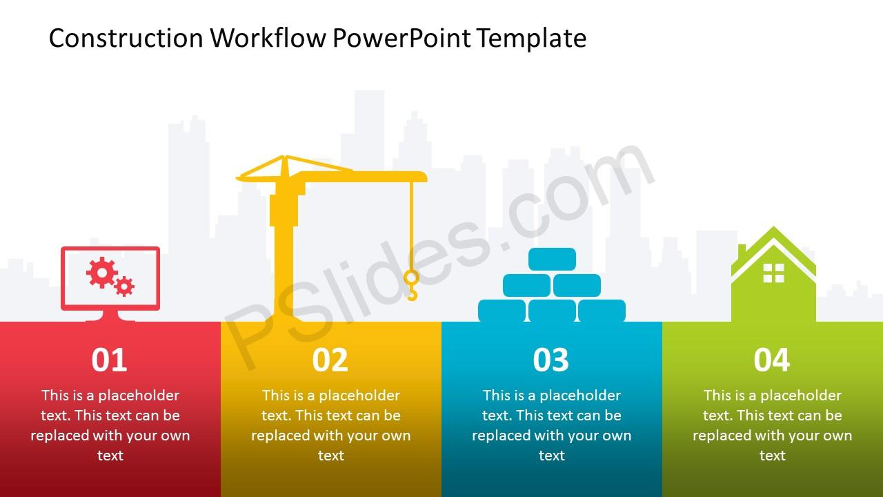 construction workflow powerpoint template pslides