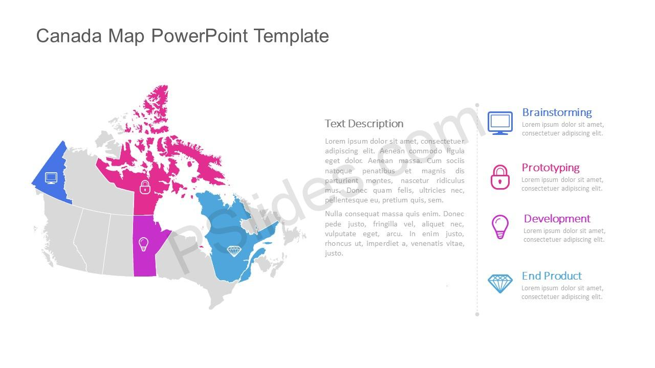 canada map powerpoint template pslides