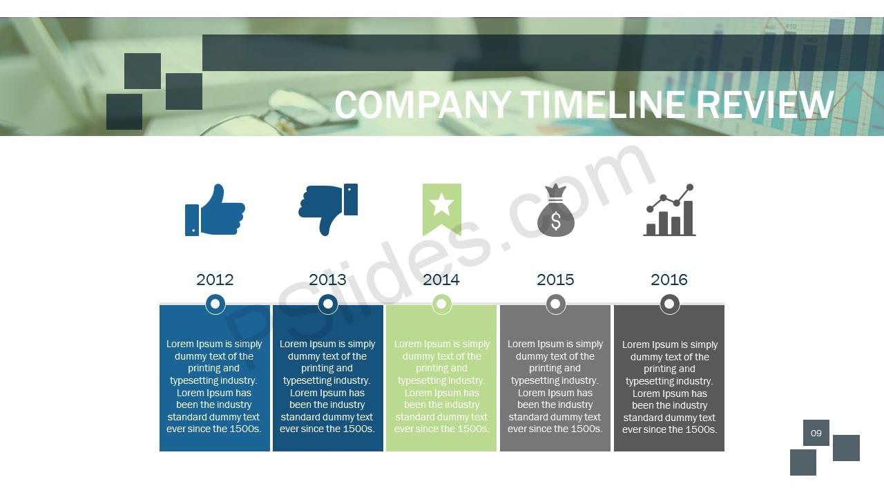 Company Timeline Slide