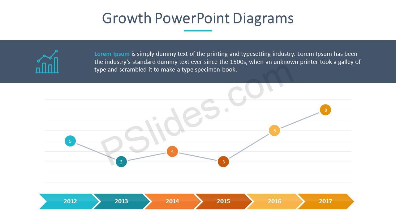 Growth Line Graph Slide