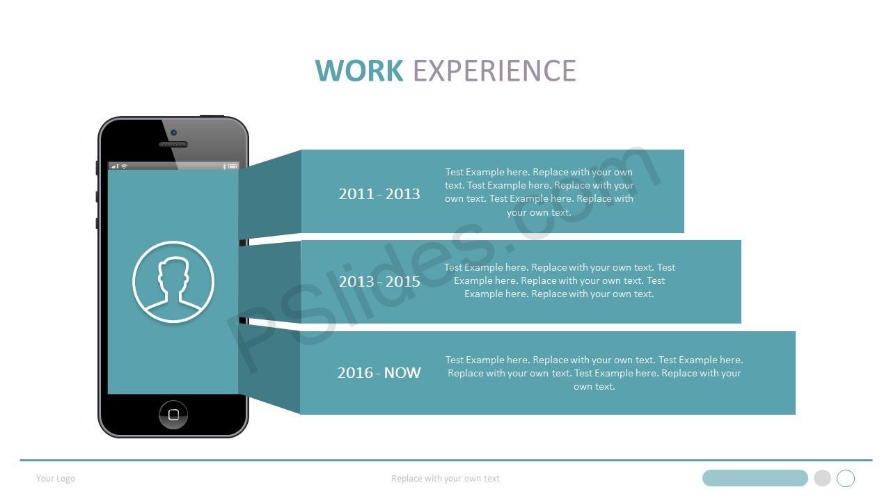 Work Experience PowerPoint Slide