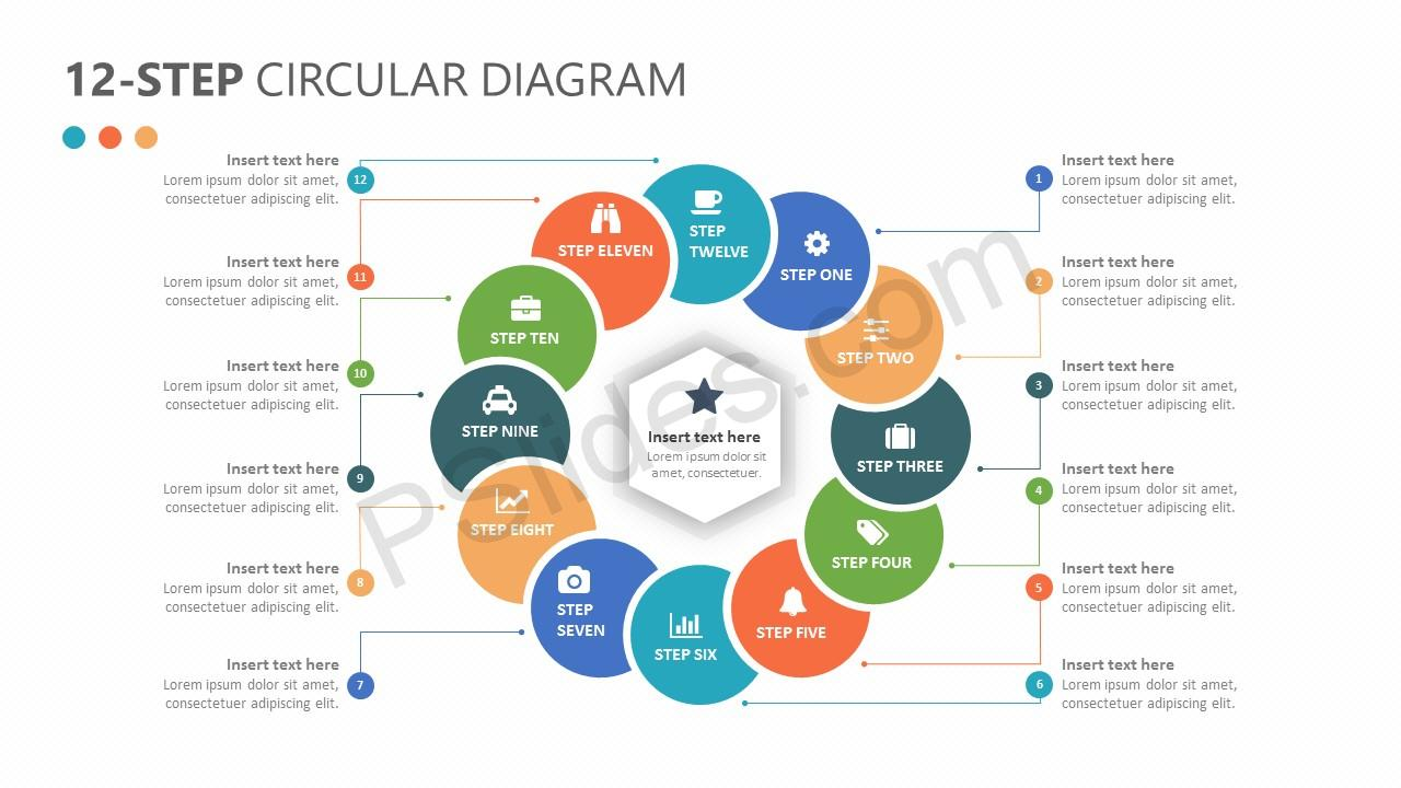 12-Step Circular Diagram for PowerPoint