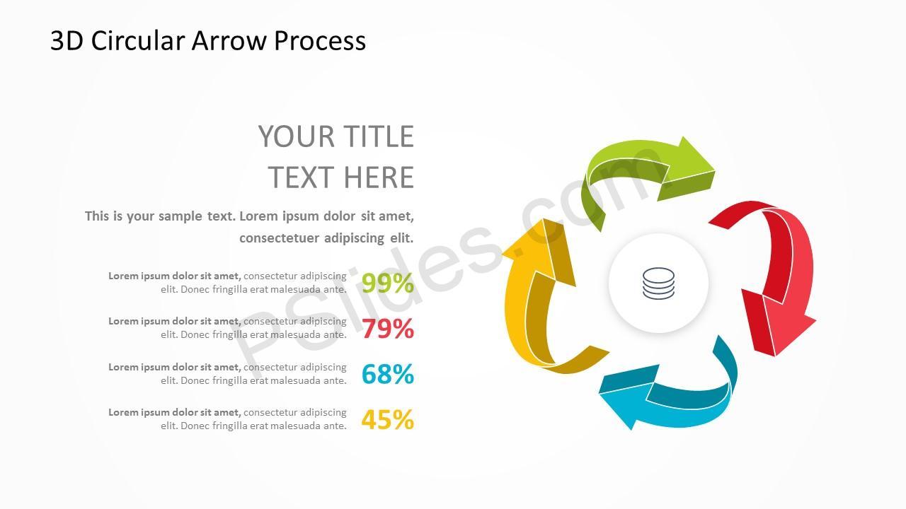 3D Arrow Slide 4