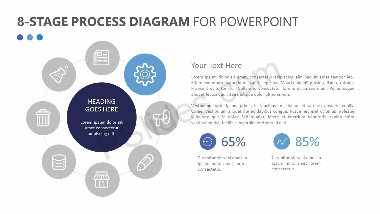 8-Stage Process Diagram Slide 2