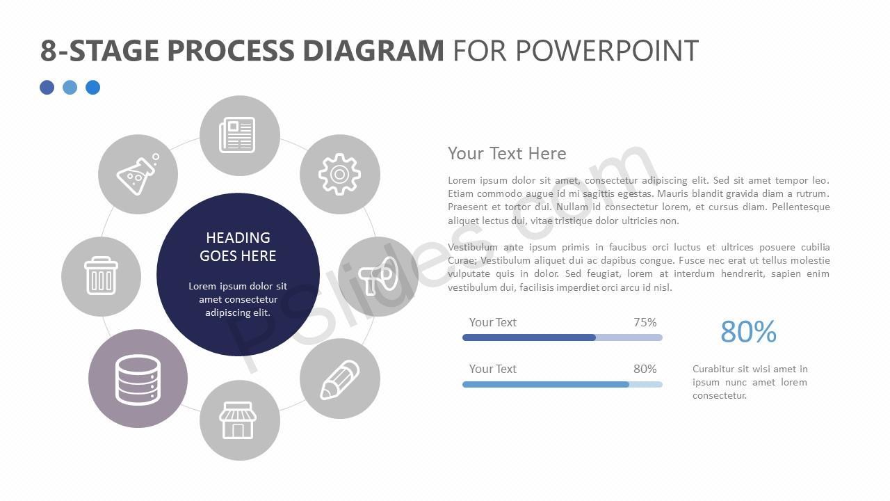 8-Stage Process Diagram Slide 3