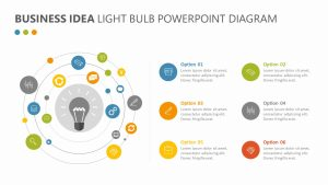 Business Idea Light Bulb Diagram for PowerPoint Slide 1
