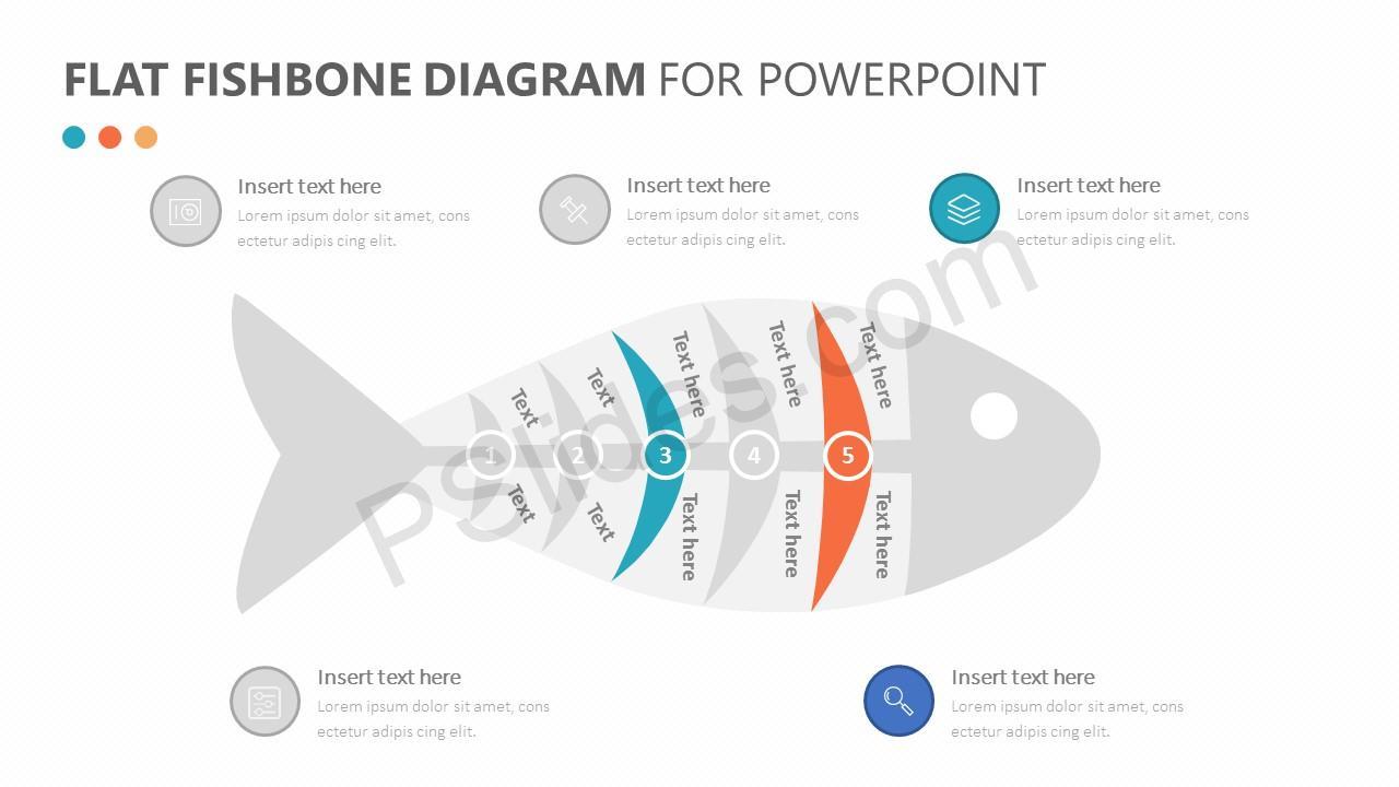 Flat Fishbone Diagram Slide 2