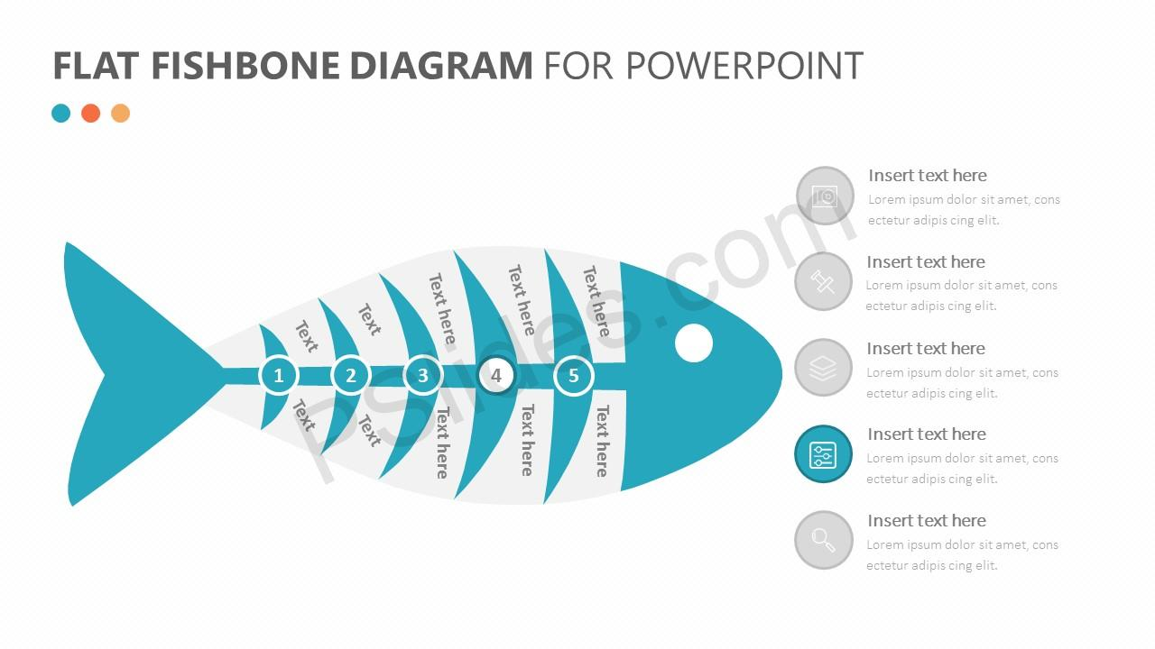 Flat Fishbone Diagram Slide 3