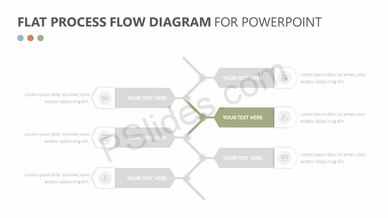 Flat Process Flow Diagram Slide 2