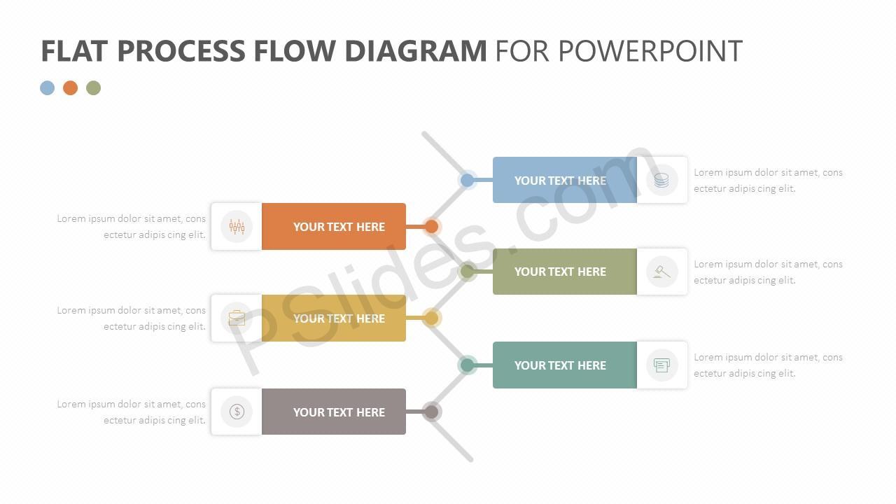 Flat Process Flow Diagram Slide 3