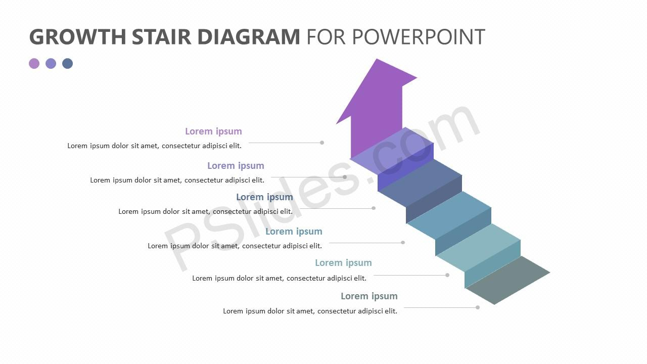 Growth Stair Diagram for PowerPoint Slide 3