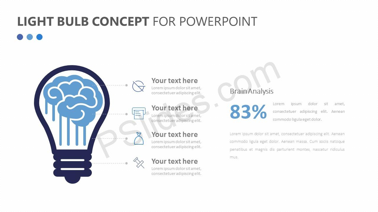 Light Bulb Concept for PowerPoint