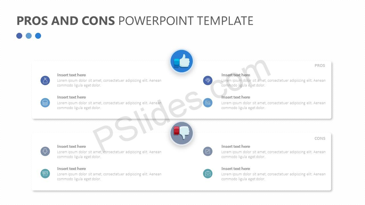 Free pros and cons powerpoint template pslides for Pros and cons matrix template