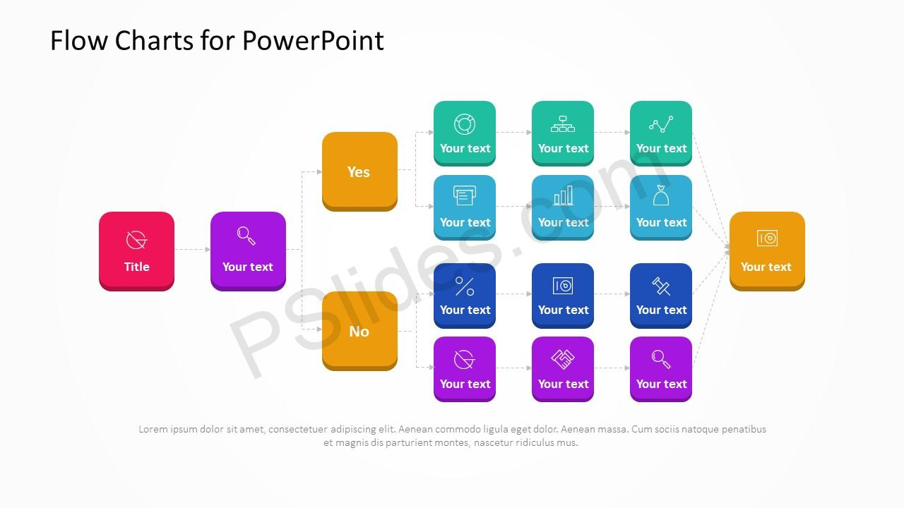 Flow Charts for PowerPoint Slide 1