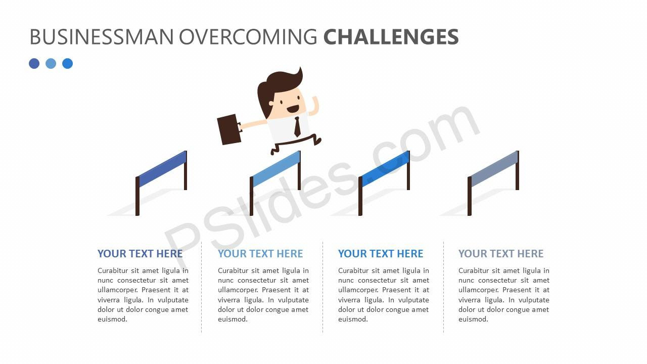 Businessman Overcoming Challenges Slide 1