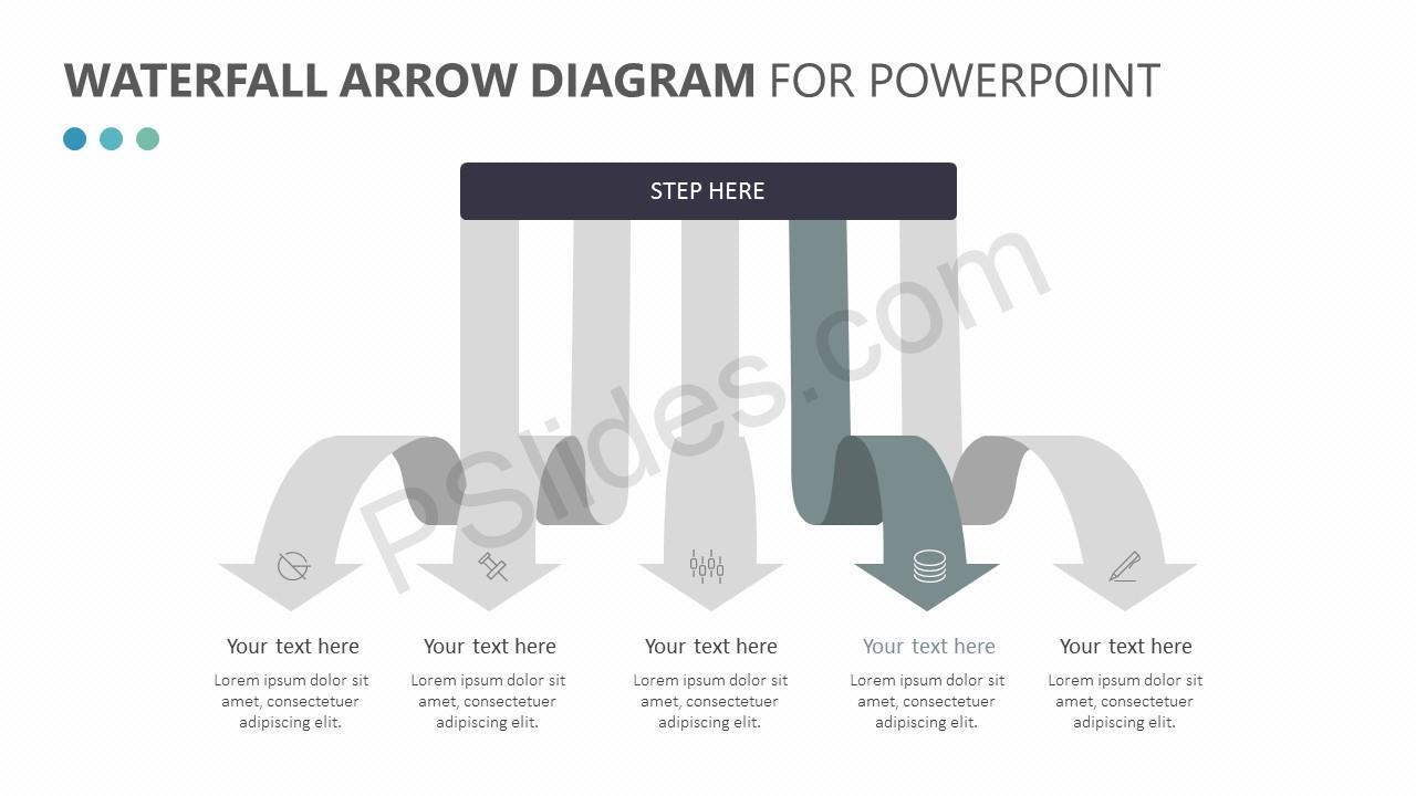 Waterfall Arrow Diagram Slide 3