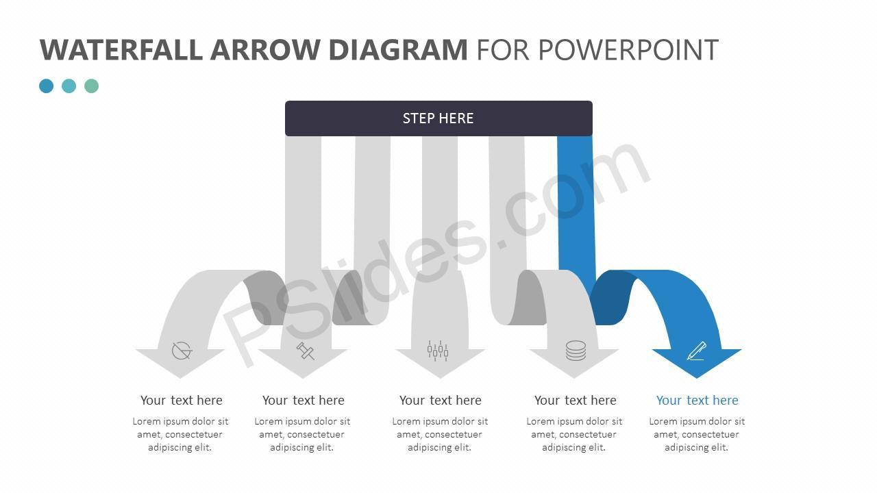 Waterfall Arrow Diagram Slide 2