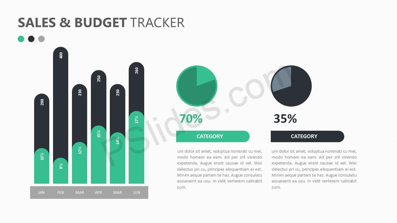 Sales and Budget Tracker for PowerPoint Slide 4
