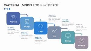 Waterfall Model for PowerPoint Slide 1