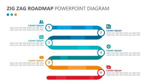 Zig Zag Roadmap PowerPoint Diagram