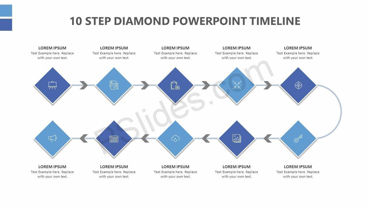 timeline slide in powerpoint
