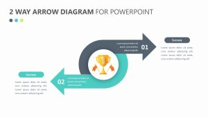 Free  2 Way Arrow Diagram for PowerPoint