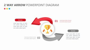 2 Way Arrow PowerPoint Diagram