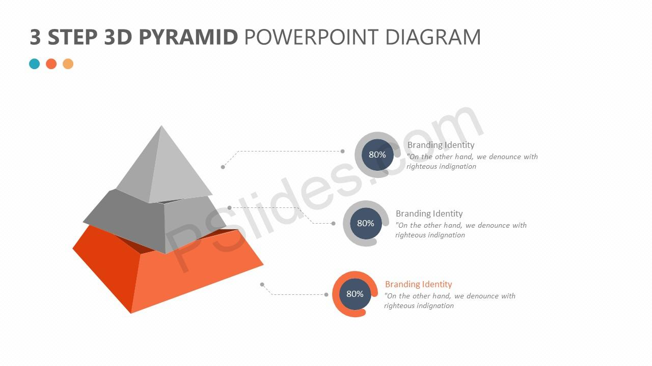 3 Step 3D Pyramid PowerPoint Diagram Slide 3