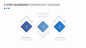 3 Step Diamond PowerPoint Diagram Slide 1