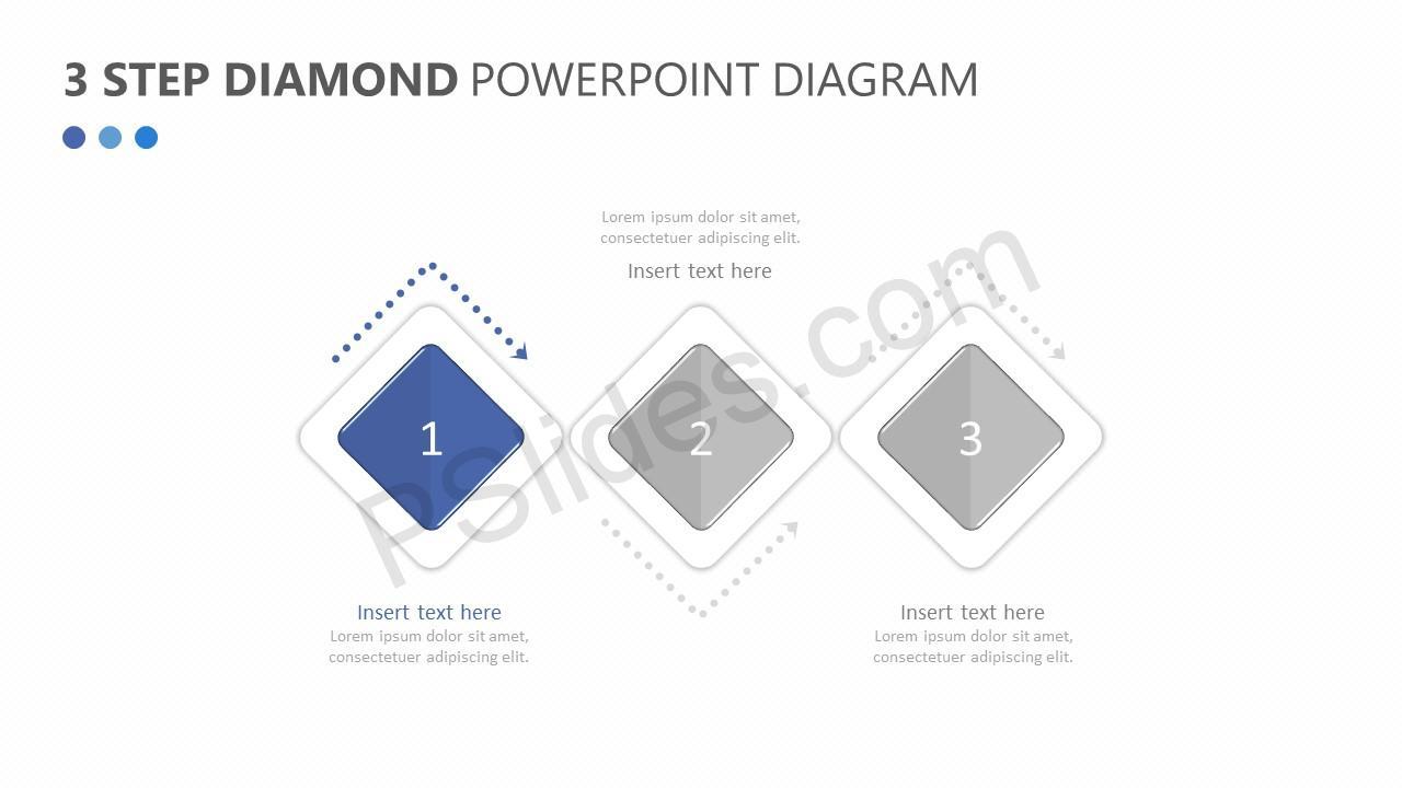 3 Step Diamond PowerPoint Diagram Slide 2
