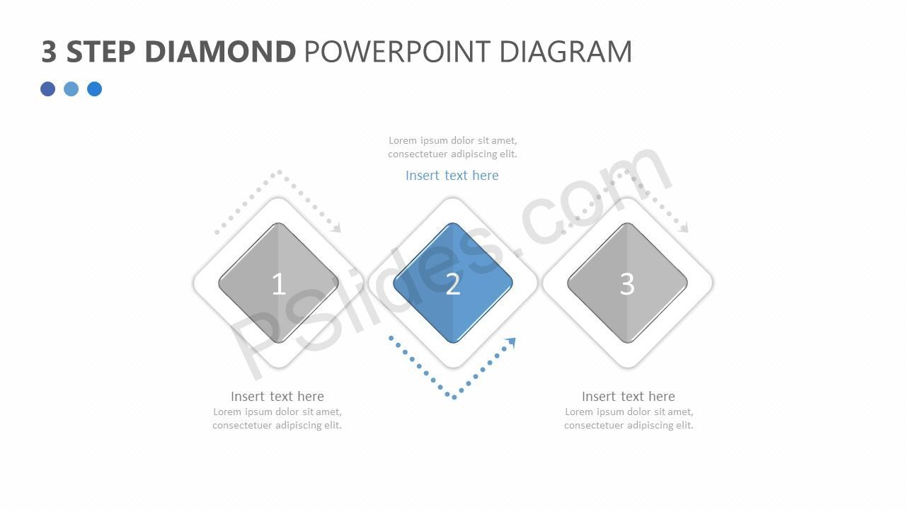 3 Step Diamond PowerPoint Diagram Slide 3