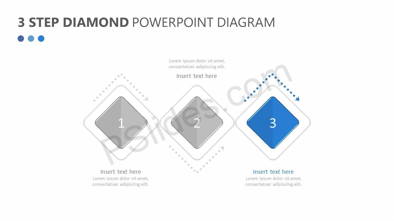 3 Step Diamond PowerPoint Diagram Slide 4