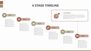 6 Stage Timeline for PowerPoint