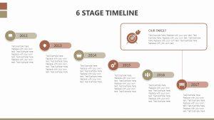 6 Stage Timeline Slide 1
