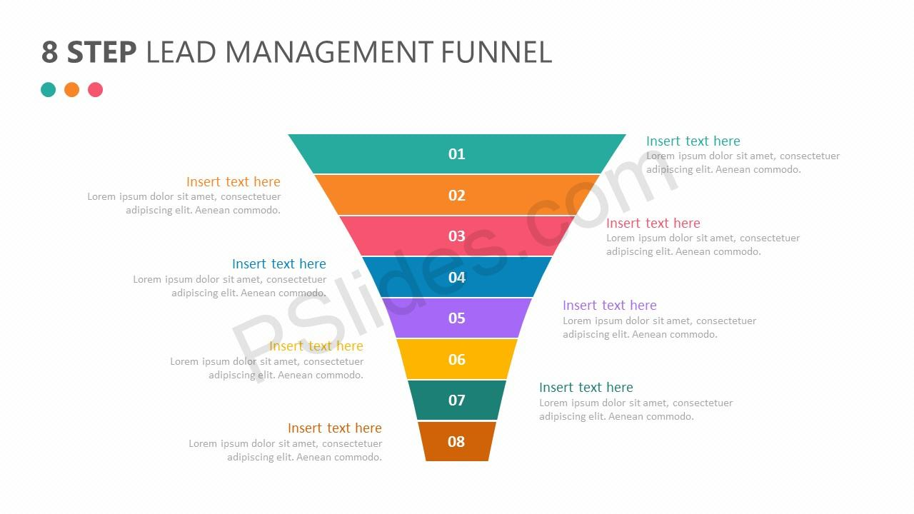 8 Step Lead Management Funnel Diagram Slide 1