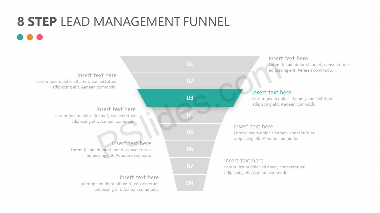 8 Step Lead Management Funnel Diagram Slide 2