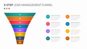 8 Step Lead Management Funnel Diagram Slide 3