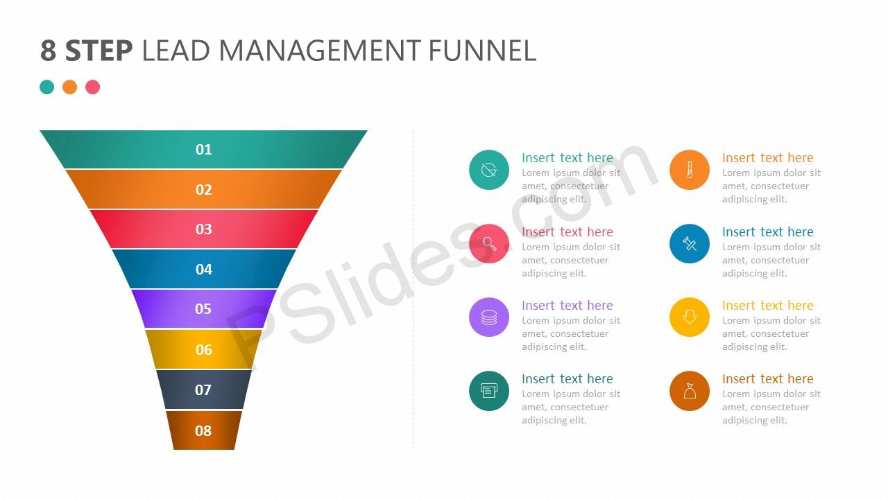 8 Step Lead Management Funnel Diagram - Pslides