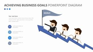 Achieving Business Goals PowerPoint Diagram Slide 1