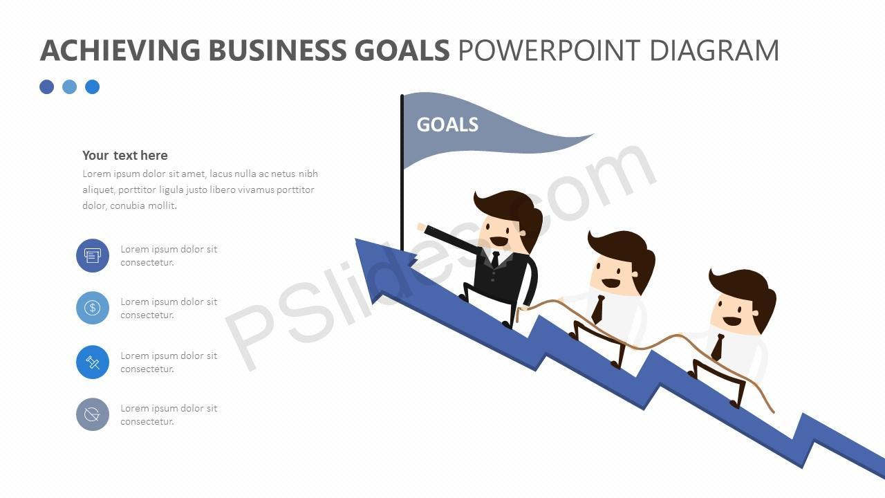 Achieving Business Goals PowerPoint Diagram Slide 1