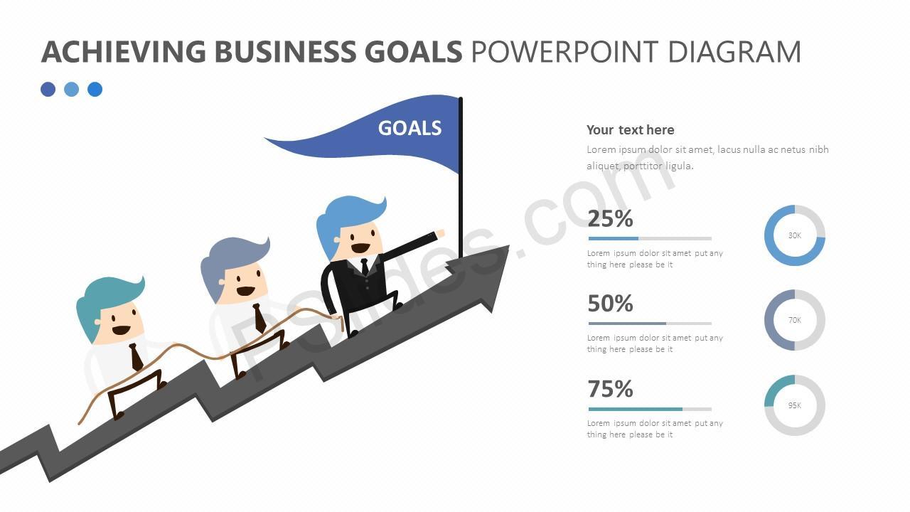Achieving Business Goals PowerPoint Diagram Slide 2
