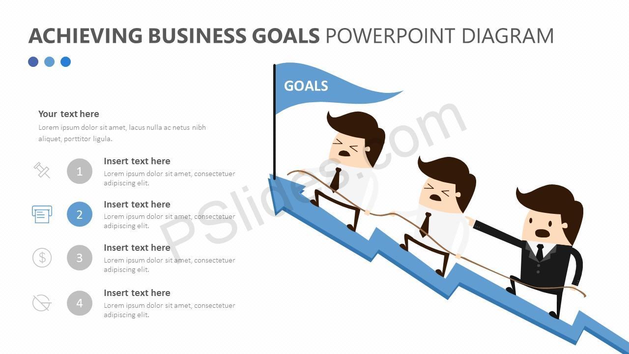 Achieving Business Goals PowerPoint Diagram Slide 3