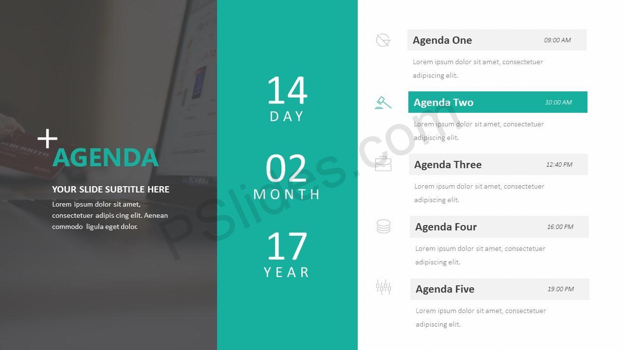 Agenda PowerPoint Template Slide 2