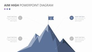 Aim High PowerPoint Diagram