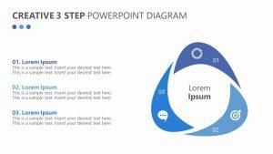 Creative 3 Step PowerPoint Diagram