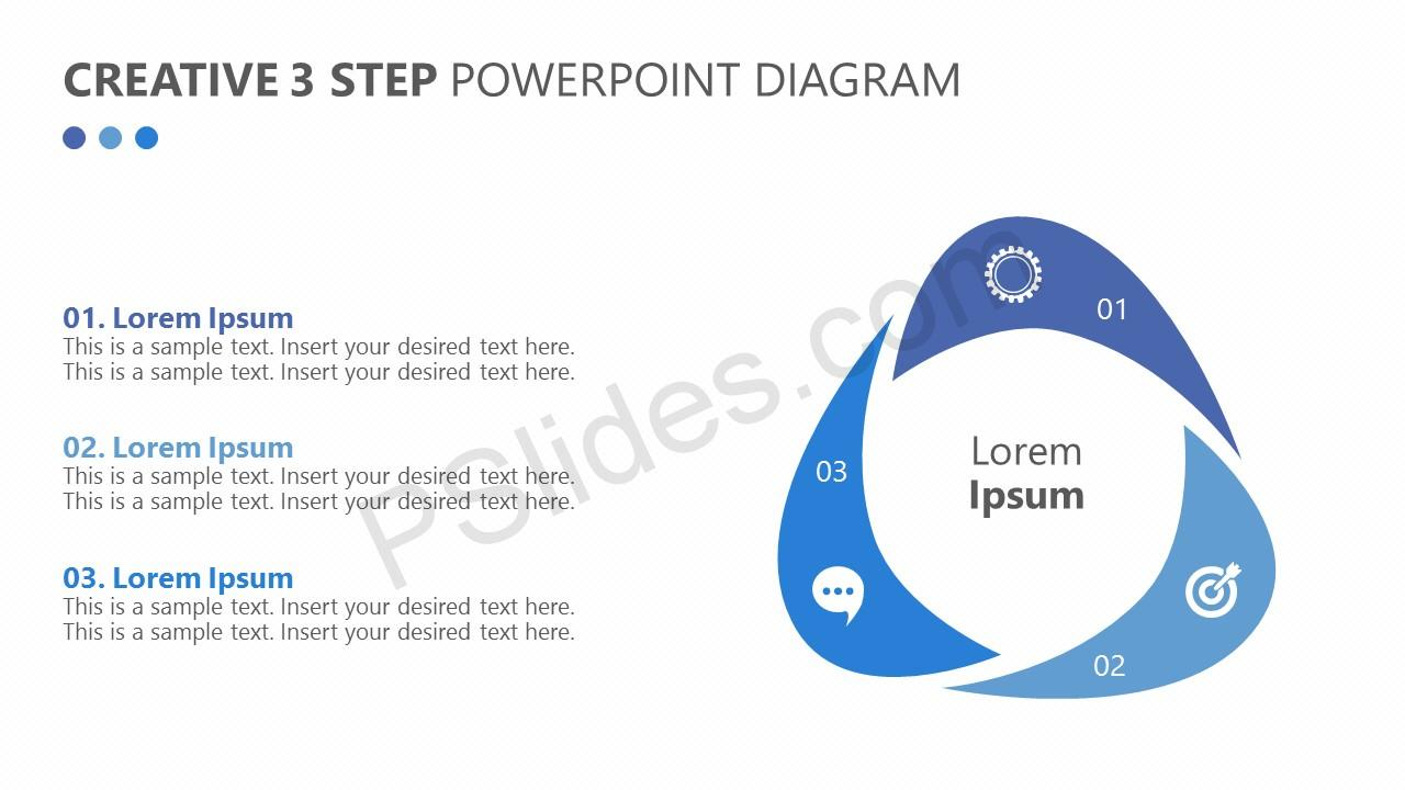 Creative 3 Step PowerPoint Diagram