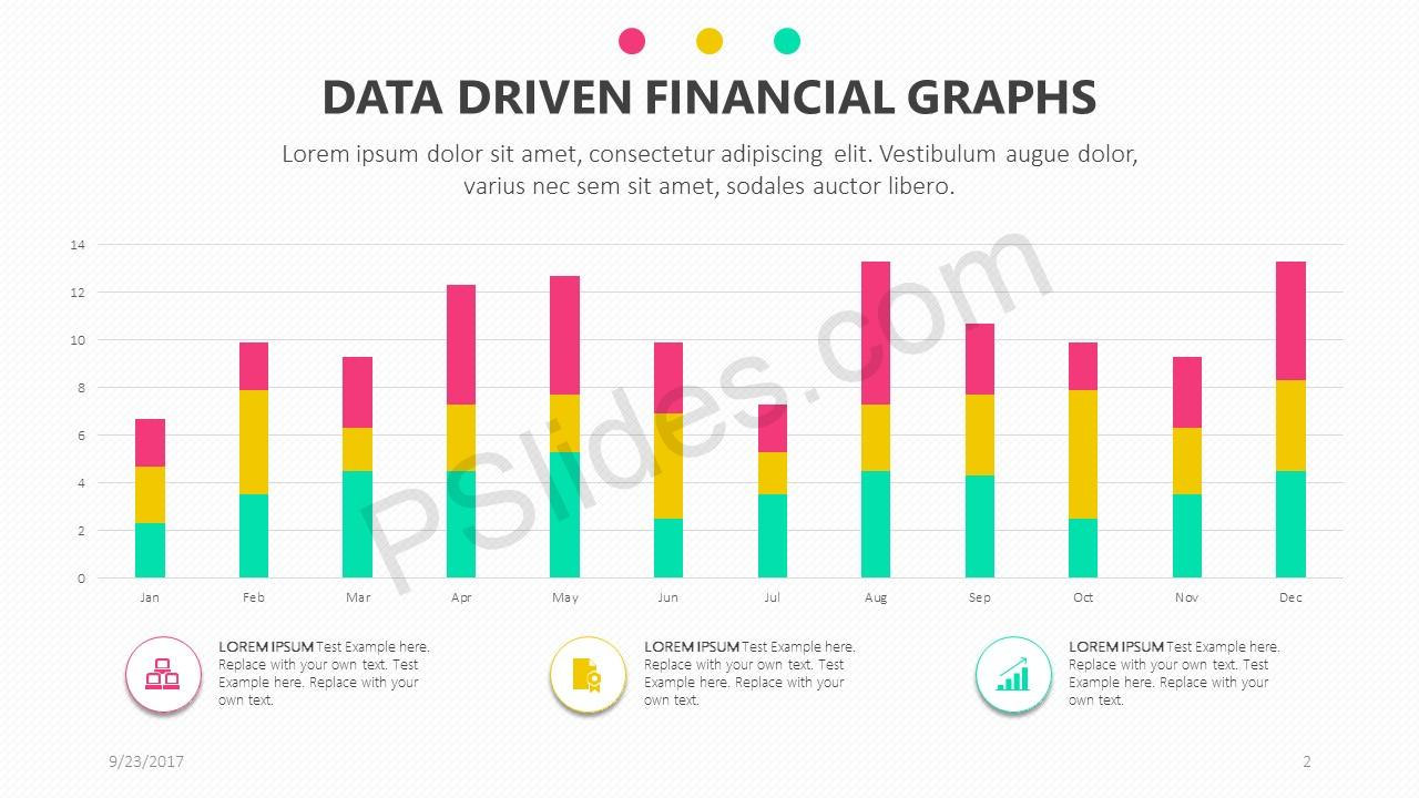 Data Driven Financial Graphs for PowerPoint Slide 2