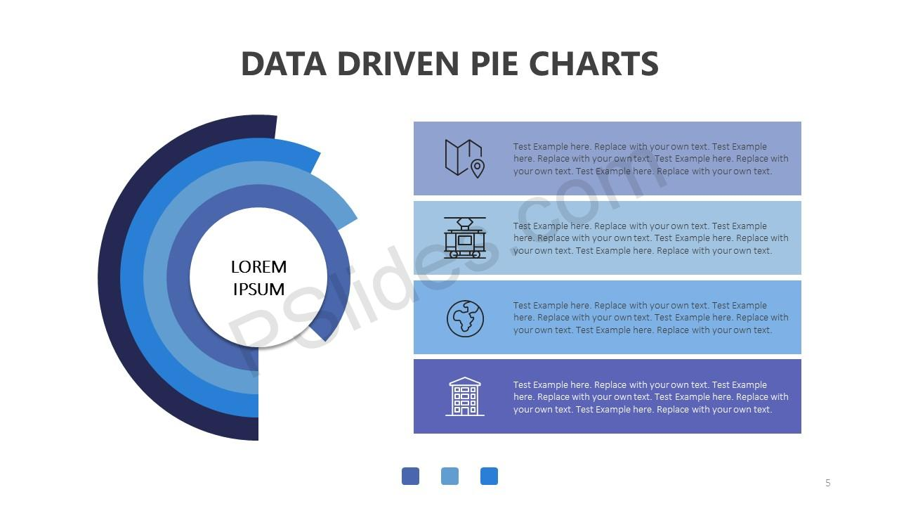 Data Driven Pie Charts for PowerPoint Slide 5