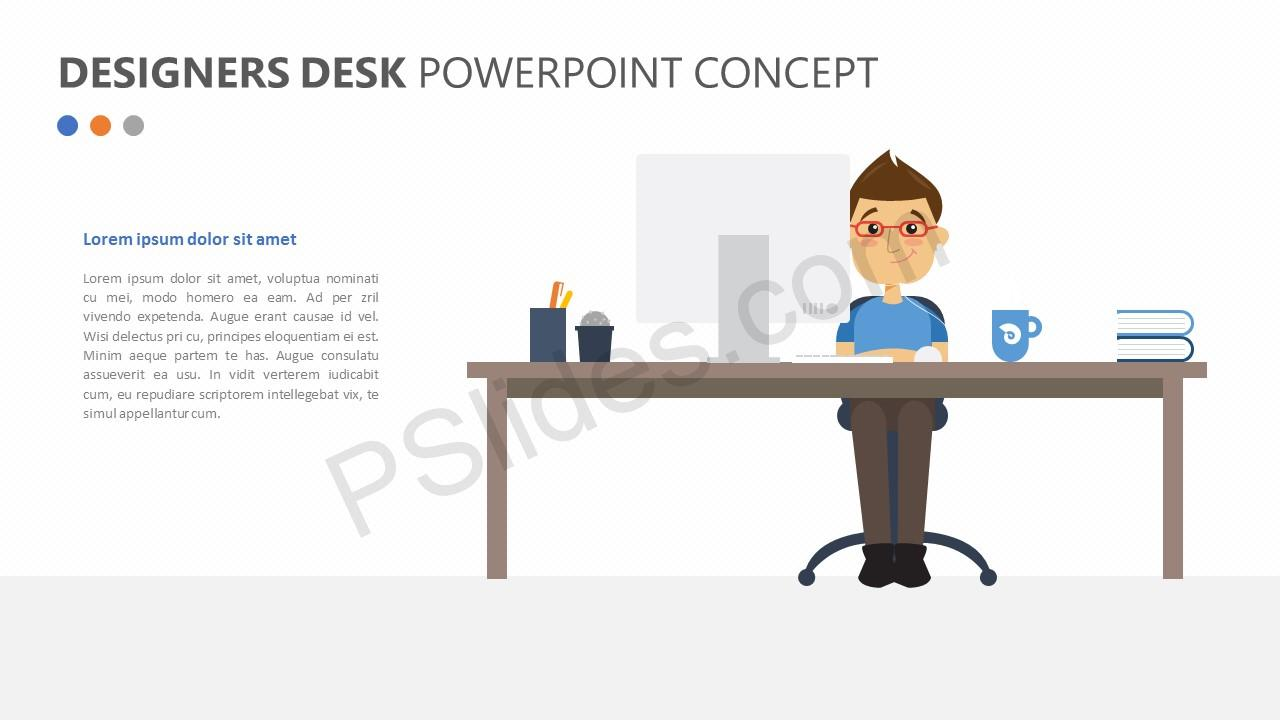Designers Desk PowerPoint Concept Slide 1
