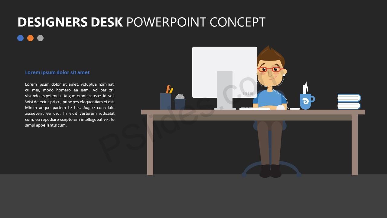 Designers Desk PowerPoint Concept Slide 2